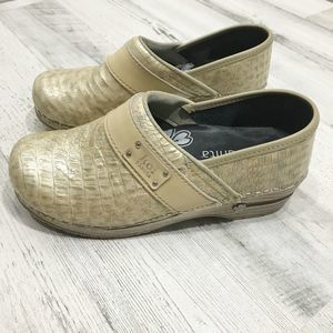 Koi by Sanita Snakeskin Danish Clog Nursing Shoe